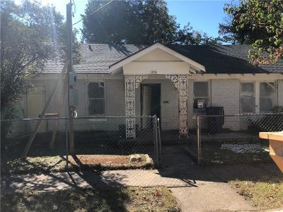 Dallas Single Family Home For Sale: 1218 Ranier Street