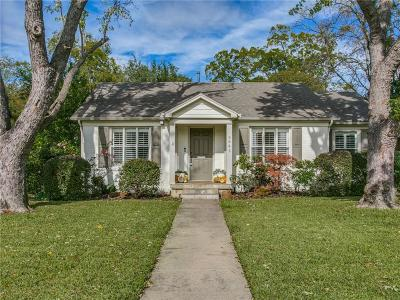 Dallas Single Family Home Active Option Contract: 5641 Bryn Mawr Drive