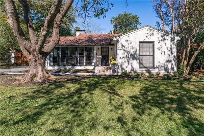 Dallas Single Family Home For Sale: 4023 Rosa Road