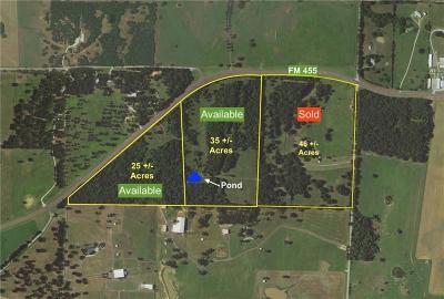 Farm & Ranch For Sale: Tbd Fm 455 E