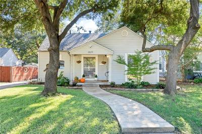 Fort Worth Single Family Home For Sale: 3829 Pershing Avenue