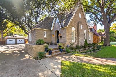 Fort Worth Single Family Home Active Option Contract: 3201 Lamesa Place