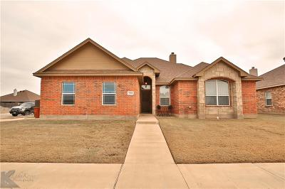 Abilene Single Family Home Active Option Contract: 5101 Yellowstone Trail