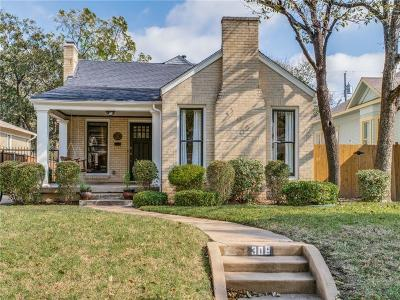 Dallas Single Family Home For Sale: 306 N Edgefield Avenue