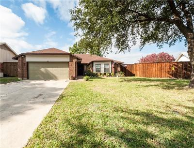Lewisville Single Family Home Active Option Contract: 586 Calvert Court