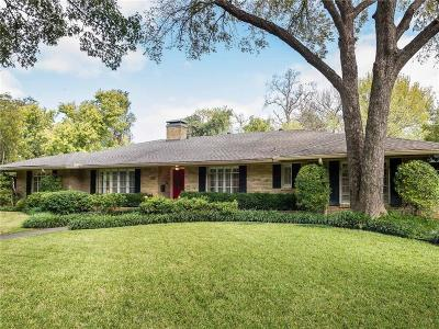 Dallas Single Family Home For Sale: 3880 Whitehall Drive