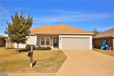 Abilene Single Family Home Active Option Contract: 1134 Seamans Way
