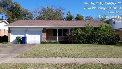 Garland Single Family Home Active Option Contract: 2524 Morningside Drive