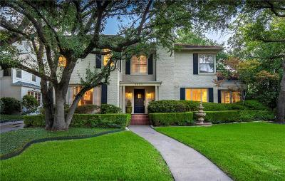 Highland Park Residential Lease For Lease: 4606 Beverly Drive