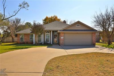Abilene Single Family Home For Sale: 3033 Antilley Road