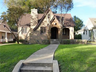 Dallas Single Family Home For Sale: 5219 Vanderbilt Avenue