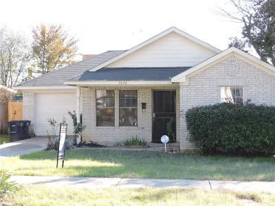 Fort Worth Single Family Home For Sale: 3636 Mt Vernon Avenue