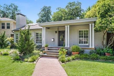 Dallas, Fort Worth Single Family Home For Sale: 8715 Cortleigh Place
