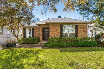 Dallas Single Family Home For Sale: 7206 La Vista Drive