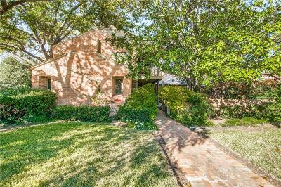 Highland Park Single Family Home For Sale: 4350 Rheims Place