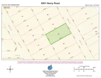 Dallas County Residential Lots & Land For Sale: 2901 Henry Road