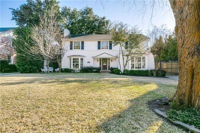 Highland Park, University Park Single Family Home For Sale: 3701 Caruth