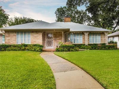 Dallas Single Family Home For Sale: 6158 Monticello Avenue