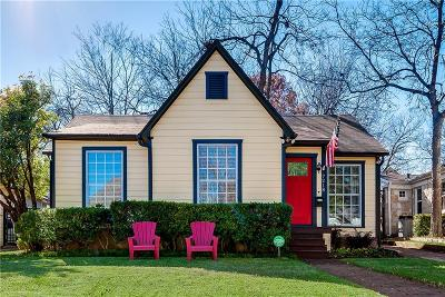 Dallas Single Family Home For Sale: 7218 Coronado Avenue
