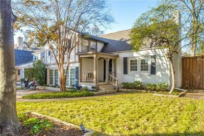 Dallas Single Family Home Active Option Contract: 5347 McCommas Boulevard