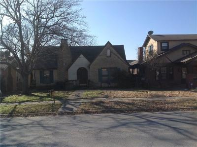 North Fort Worth Single Family Home Active Option Contract: 1357 Francis Street