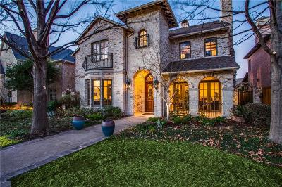 Dallas, Highland Park, University Park Single Family Home For Sale: 7809 Hanover Street