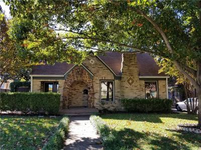 Dallas Single Family Home For Sale: 5626 McCommas Boulevard