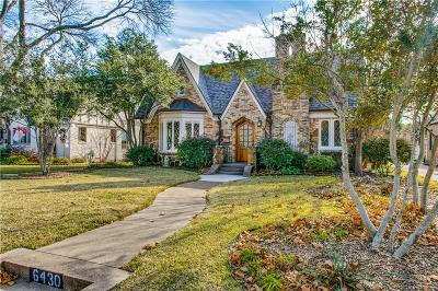 Dallas County Single Family Home Active Option Contract: 6430 Lakeshore Drive