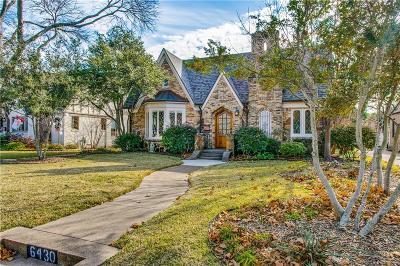 Dallas Single Family Home For Sale: 6430 Lakeshore Drive