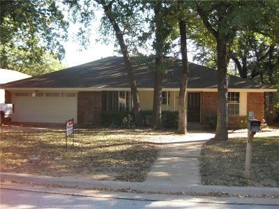 Arlington Single Family Home Active Option Contract: 4801 Stage Line Drive