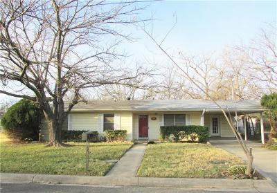 Stephenville TX Single Family Home Active Contingent: $99,500