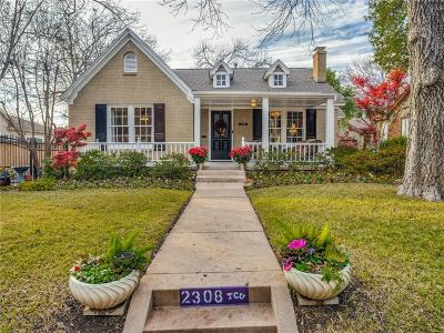 Fort Worth Single Family Home For Sale: 2308 Stanley Avenue