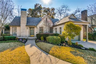Dallas Single Family Home Active Option Contract: 6122 Revere Place