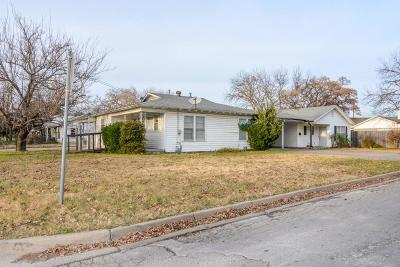 Stephenville Single Family Home Active Option Contract: 705 N Belknap Street