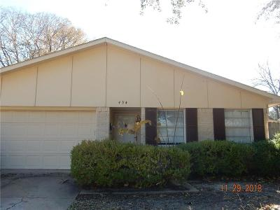 Garland Residential Lease For Lease: 434 Clover Lane
