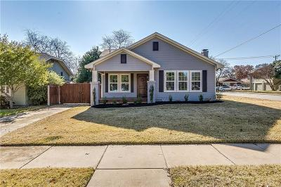 Fort Worth Single Family Home For Sale: 4539 Pershing Avenue