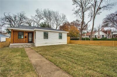 Dallas Single Family Home For Sale: 1242 Hollywood Avenue