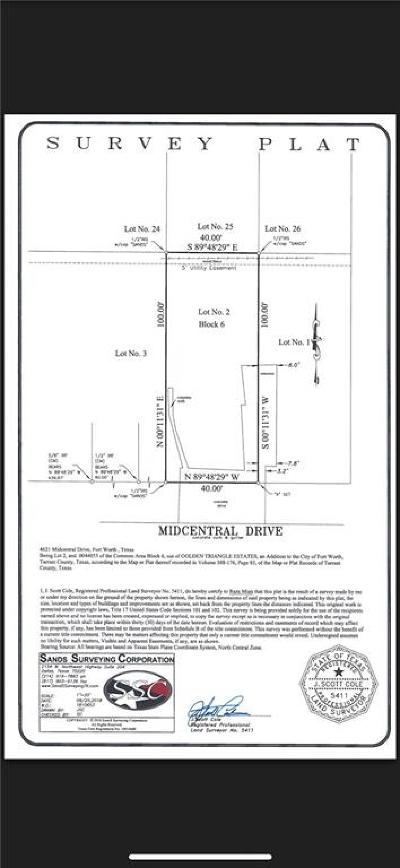 Fort Worth Residential Lots & Land For Sale: 4261 Midcentral Drive