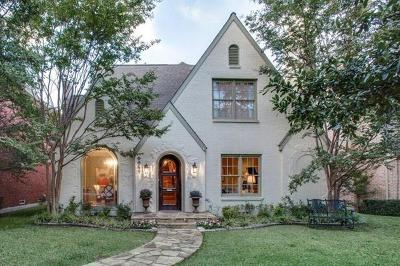University Park TX Single Family Home For Sale: $1,650,000