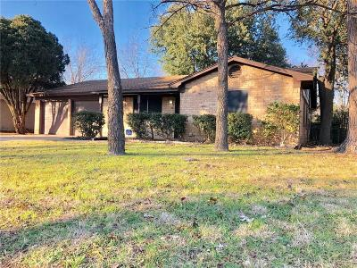Denton Single Family Home Active Option Contract: 3313 Hummingbird Lane