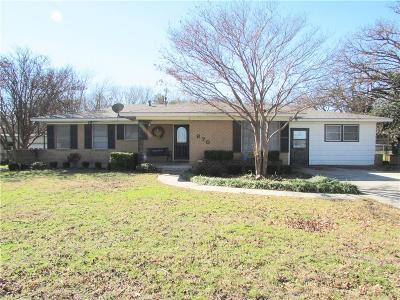 Stephenville Single Family Home For Sale: 870 N Harbin Drive