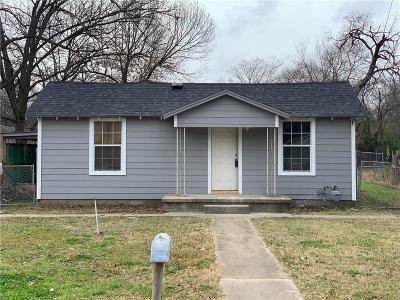 Denton County Single Family Home Active Option Contract: 705 Rose Street
