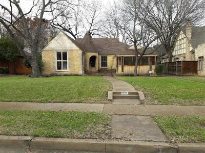 Dallas County Single Family Home For Sale: 6417 Glenrose Court