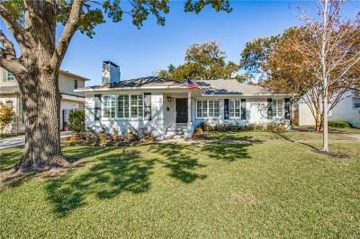 Dallas Single Family Home For Sale: 6729 Southridge Drive