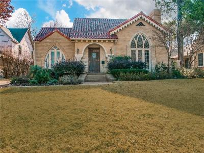 Dallas Single Family Home For Sale: 6638 Lakeshore Drive
