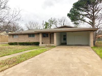 Stephenville TX Single Family Home For Sale: $165,900