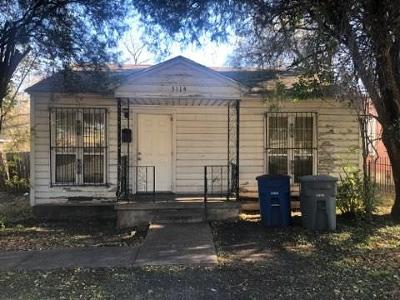 Dallas Single Family Home For Sale: 3114 Garrison Avenue