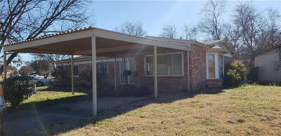 Fort Worth TX Single Family Home For Sale: $75,000