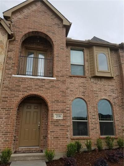 Denton County Townhouse For Sale: 2550 Adam Lane