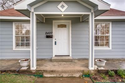 Dallas Single Family Home For Sale: 2427 Kingston Street